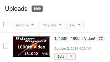 Screenshot of 1000 videos